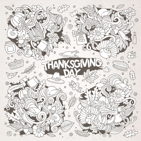 Schetsmatig hand getrokken doodle cartoon. Stock Illustratie