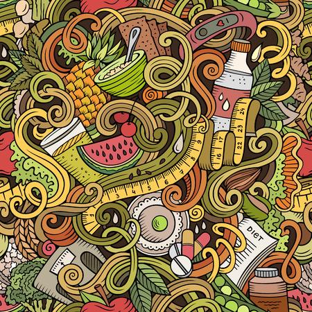 Cartoon cute doodles. Illustration