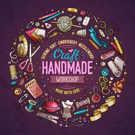 Set of Handmade cartoon doodle objects, symbols and items