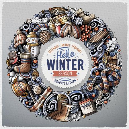 Hello winter banner.