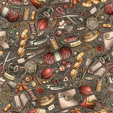 Cartoon schattig hand getrokken handgemaakte naadloze patroon