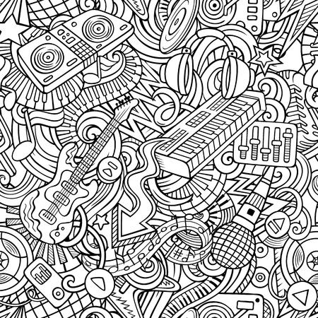 Disco music pattern. Ilustrace