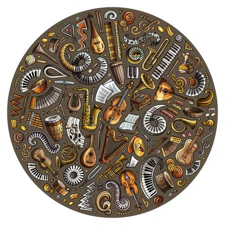 Classic musical instruments Stock Illustratie
