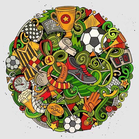 Doodles Football illustration Иллюстрация