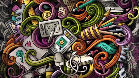 Doodles graphic design illustration. Creative art background Stockfoto