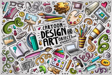 Vector set of design theme items.