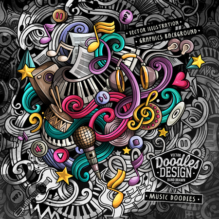 Doodles Music vector illustration