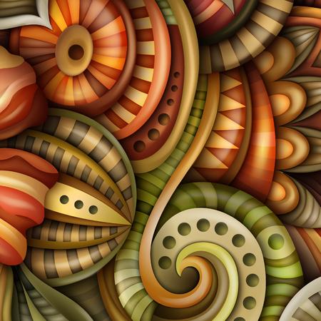 容積抽象幻想的なカラフルな丸い花のイラスト