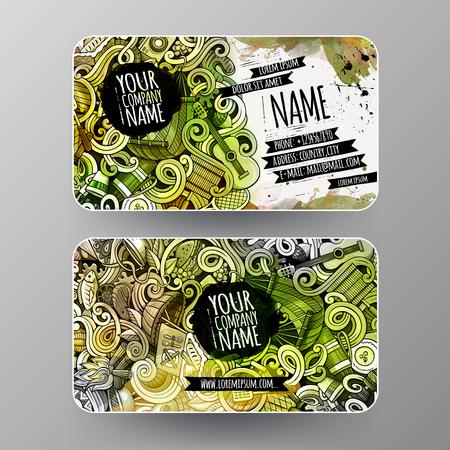 I.D cards design. Templates set