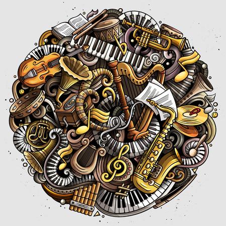Cartoon vector doodles, Classic music illustration. Archivio Fotografico - 101209640