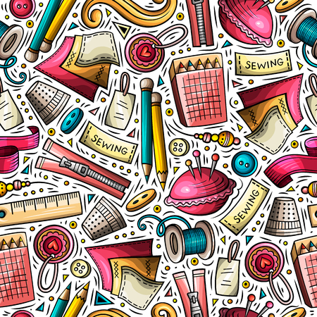 Cartoon cute hand drawn Handmade seamless pattern Çizim