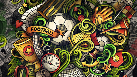 Doodles Soccer graphics illustration Stock Photo