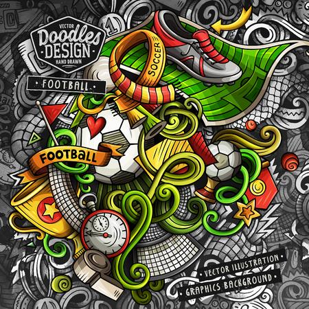 Doodles Soccer graphics vector illustration Illustration
