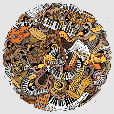 Cartoon vector doodles Classic music illustration Archivio Fotografico - 106443532