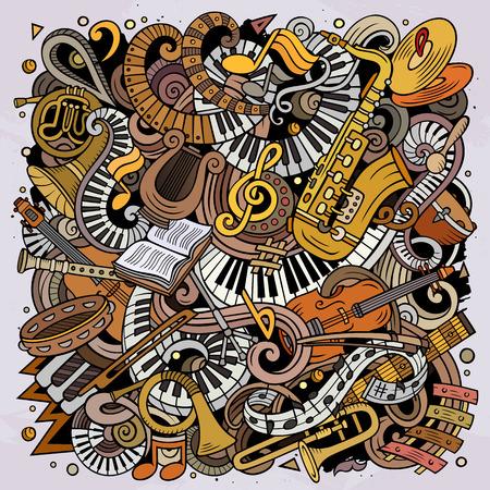Cartoon vector doodles Classic music illustration 写真素材