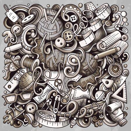 Hand Made hand drawn vector doodles illustration. Handmade poster design