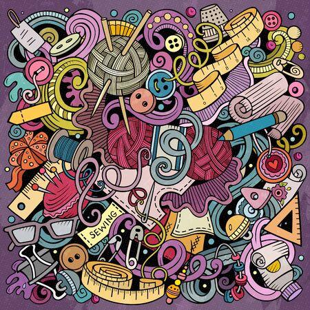 Hand Made hand drawn doodles illustration. Handmade poster design