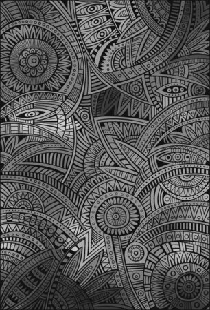 Abstract vector tribal ethnic decorative background pattern