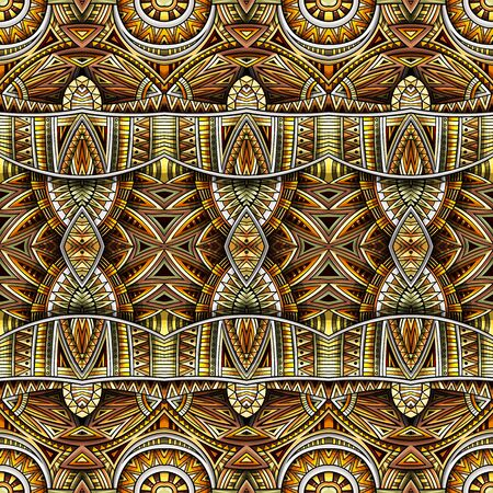 Abstract ethnic rug ornamental seamless pattern. vintage background.