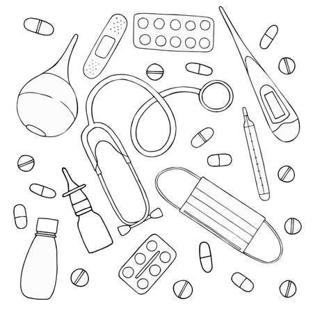 medical vector set for design