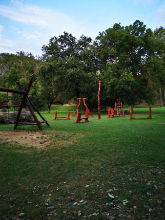 Playground at the entrance to the Aggtelek Drape cave