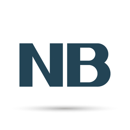 nb: Icon NB (note). Vector illustration. Dark outline on a white background.