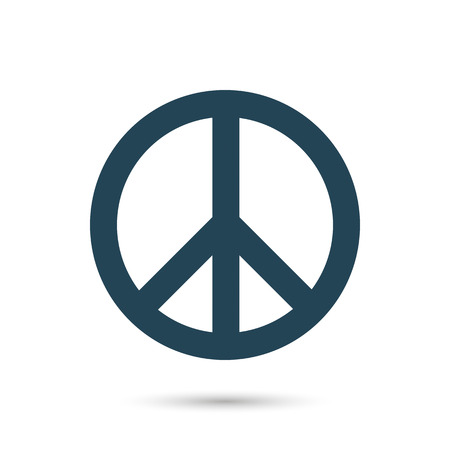 Icon Symbol of peace. Dark outline on a white background. Vector image.