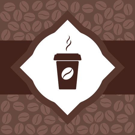 burning paper: coffee to go. design a flyer. vector illustration. flat. Illustration