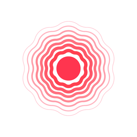 vector red circles, symbol of pain vector illustration.  イラスト・ベクター素材