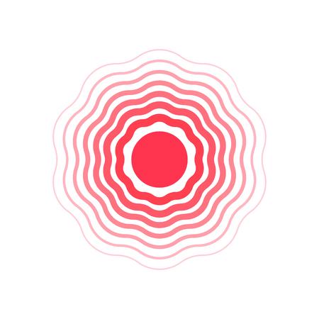vector red circles, symbol of pain vector illustration. Illustration