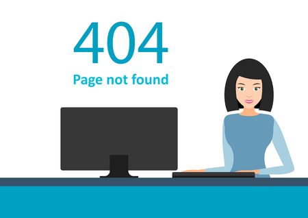 Error 404. Page not found template for website. Page lost and found message. problem disconnect.