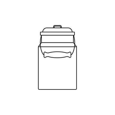 enameled can. linear icon. vector illustration. black outline on a white background.
