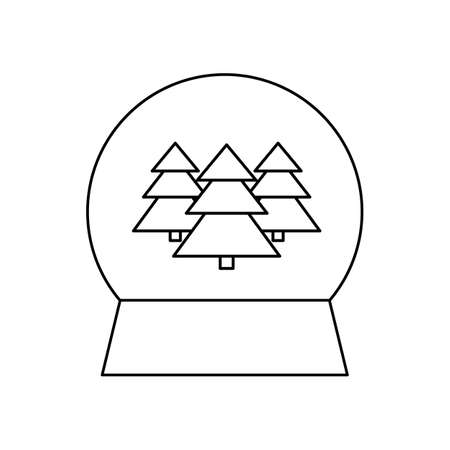 Christmas glass ball, winter souvenir. vector illustration. linear icon on a white background.