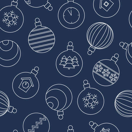 festive seamless pattern with Christmas balls. vector illustration.