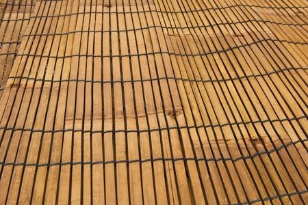 Traditional bamboo pad texture photo