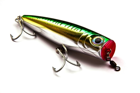 rapala: Popper for fishing a predatory fish on white