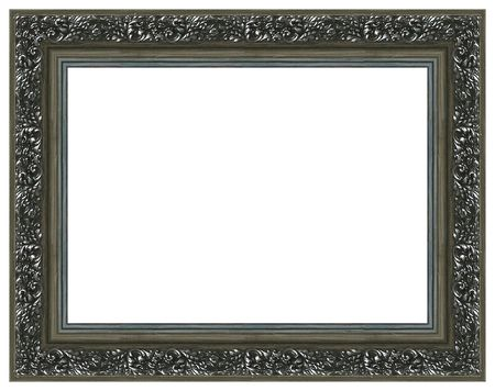 Silver picture frame with a decorative pattern photo