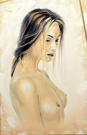 Portrait of the beautiful naked girl Stock Photo - 6386396