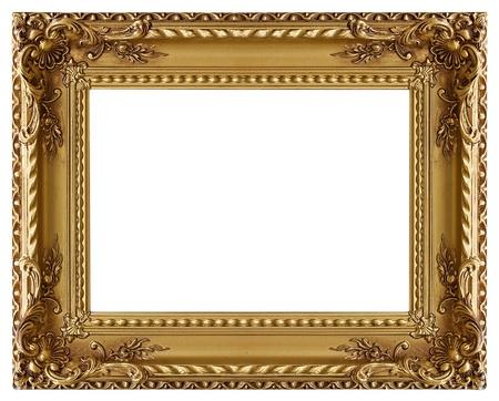 cadre antique: Cadre dor?'image avec un motif d?ratif