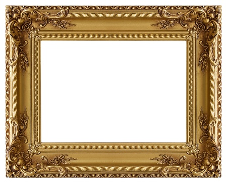 ornament frame: Picture gold frame with a decorative pattern