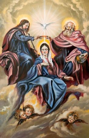 madona: Dios el hijo, Dios padre y la madre de Dios
