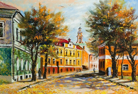 Ancient Vitebsk in the autumn Stock Photo