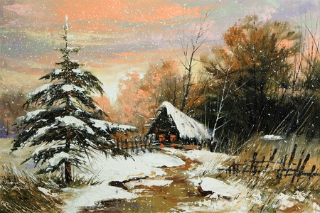 Rural winter landscape Stock Photo - 8728139