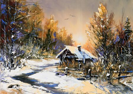 Rural winter landscape Stock Photo - 8728134