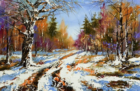 Rural winter landscape Stock Photo - 8728137