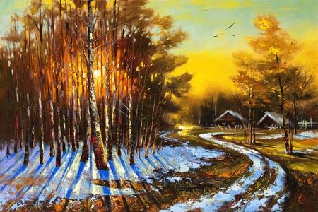 Paisaje rural de invierno Foto de archivo