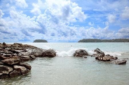 kata: Beach of Kata, Phuket, Thailand Stock Photo