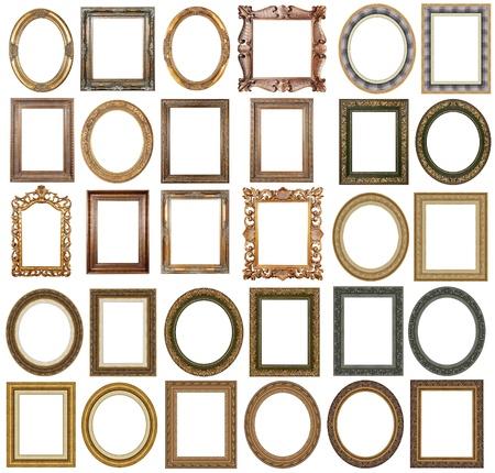 spiegelbeeld: Gouden afbeeldings frames met een decoratief patroon