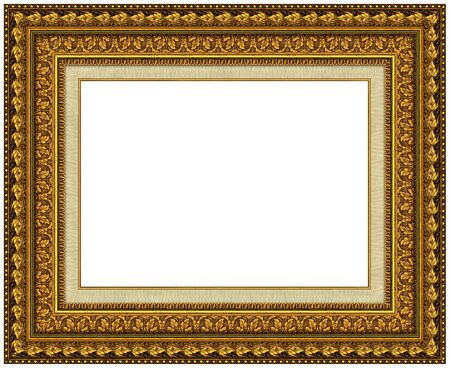 Picture gold frame with a decorative pattern Stock Photo - 8728246