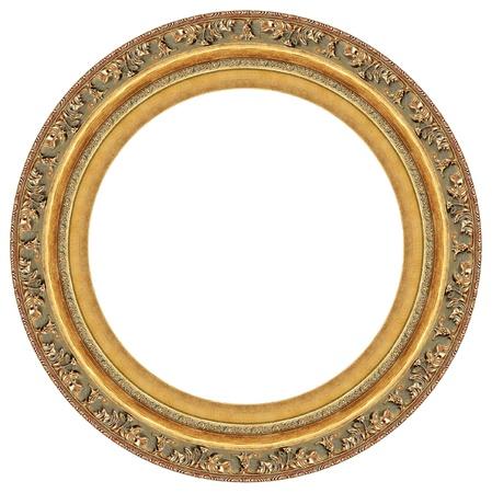 owalne: Owalny złota obraz ramki z dekoracyjnego wzoru
